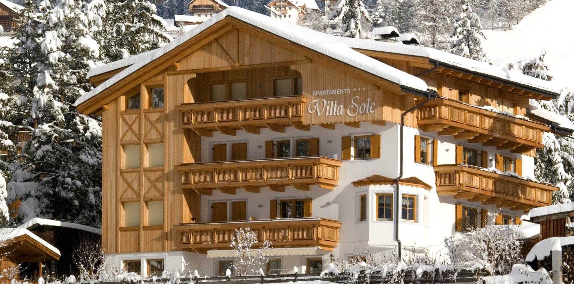 Apartments Villa Sole Winterurlaub Dolomiten